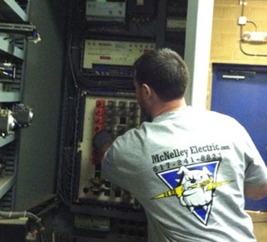 Electrician Repairing Breakers